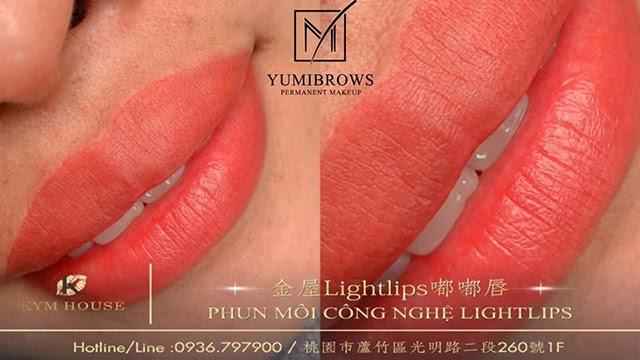 phun môi công nghệ lightlips