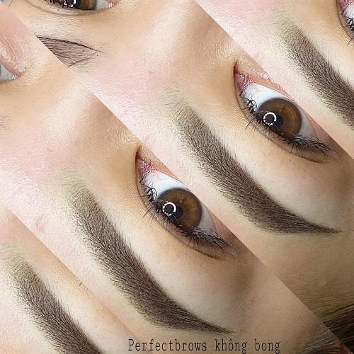 Phun lông mày mang đến độ mịn, sắc nét cho khuôn lông mày.