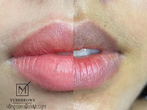 Có nhiều cách xử lý khi phun môi bị lệch viền.