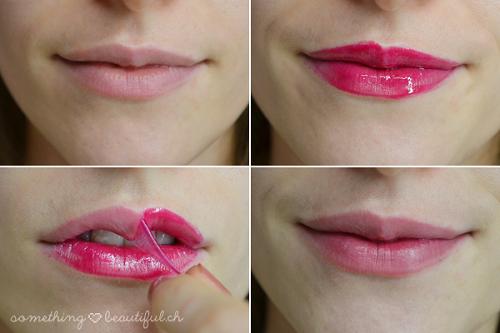 Khi gel khô, lột ra bạn sẽ có đôi môi với màu sắc như ý.